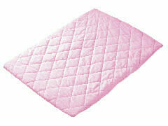 Quilted Travel Cot Padded Sheet Pink