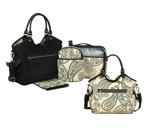 Isoki Reversible Hobo Nappy Bag Retro Paisley