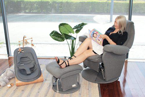 Babyhood Vogue Glider Chair Charcoal Lifestyle 2