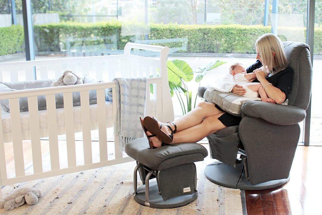 Babyhood Vogue Glider Chair Charcoal Lifestyle 3