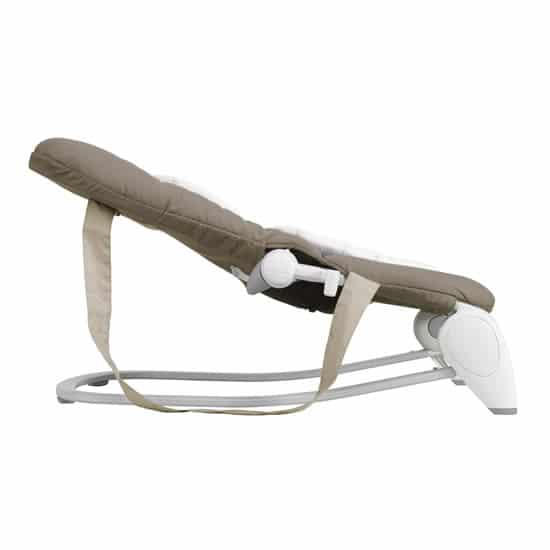chicco hoopla dark beige side view recline