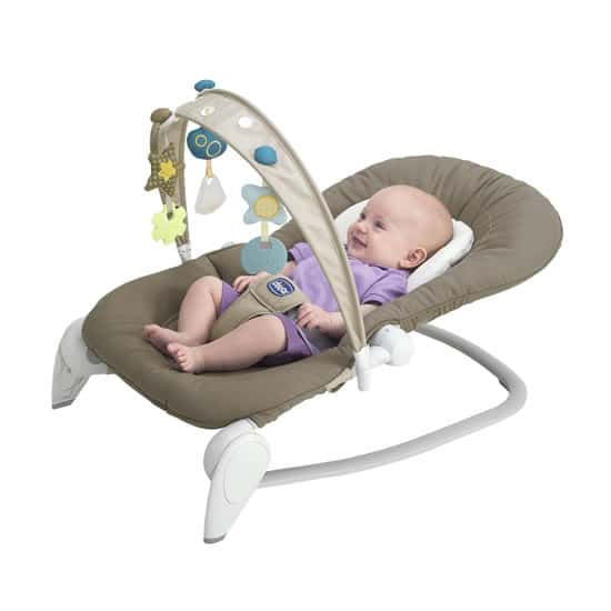 chicco hoopla dark beige with baby