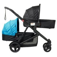 Safety 1st Envy Stroller Blue Horizon 2 Bassinets Forward Facing