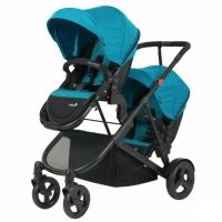 Safety 1st Envy Stroller Blue Horizon Angle 2 Forward Facing Seats