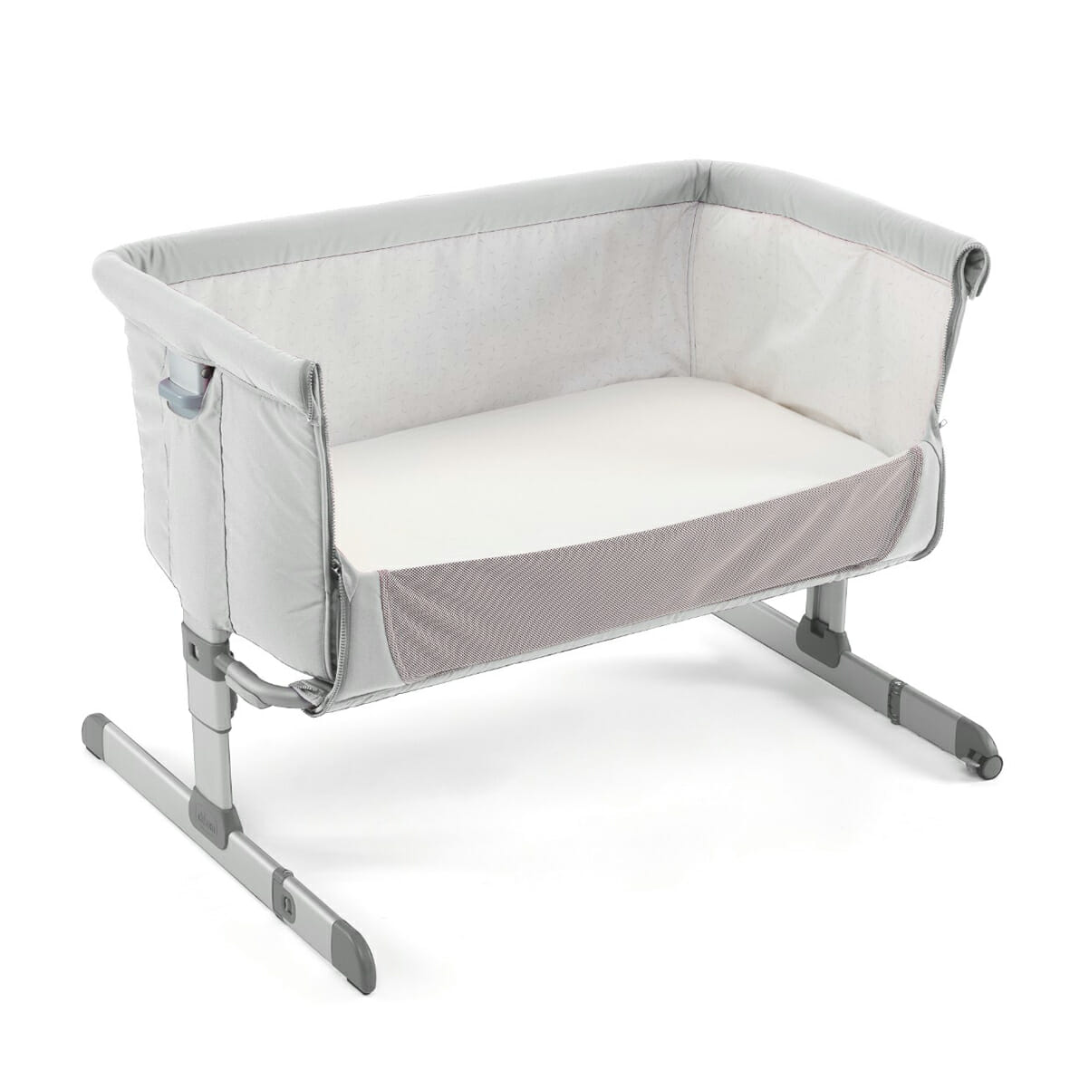 Chicco Next 2 Me Silver Side Down