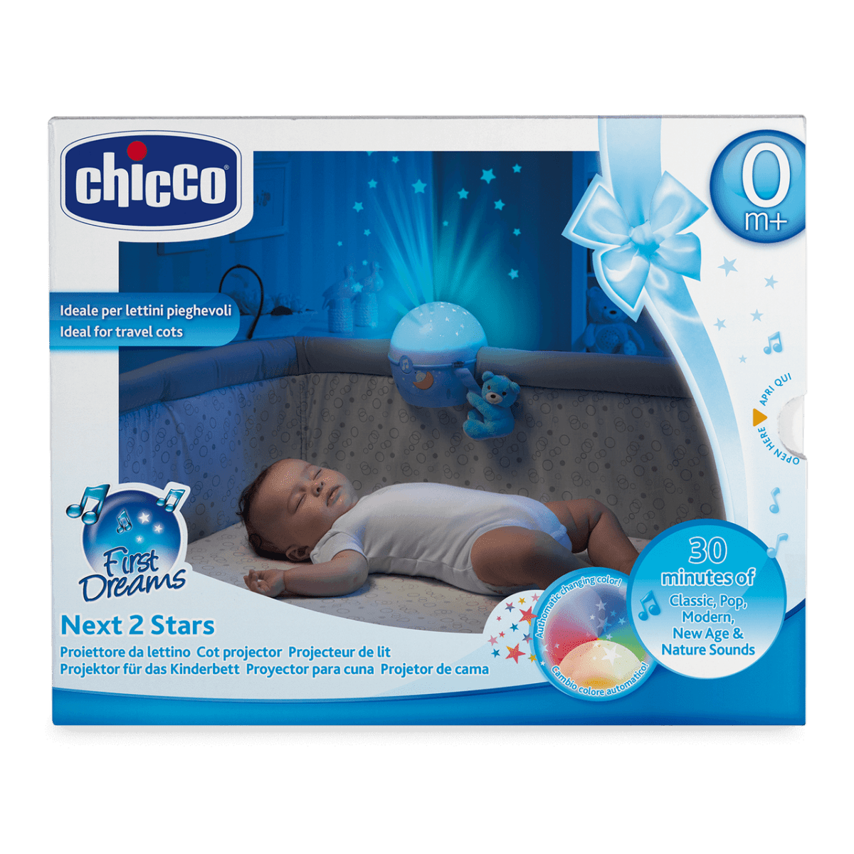 Chicco Next2 stars Blue Packaging