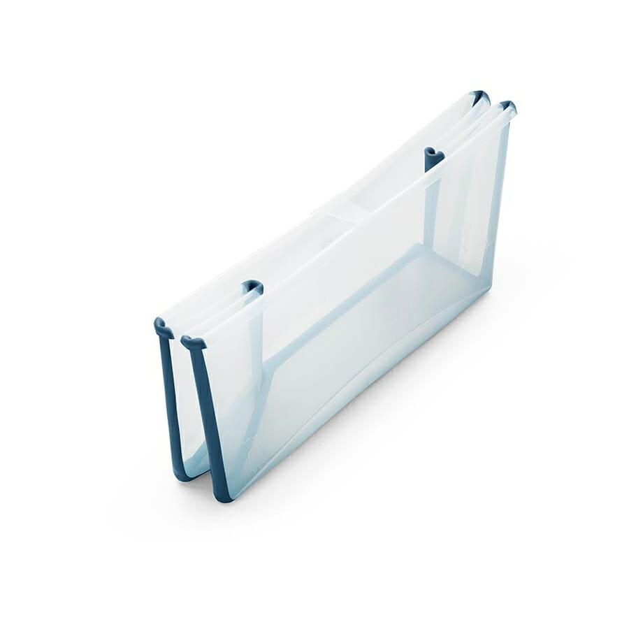 Stokke Flexi Bath Transparent Blue Folded