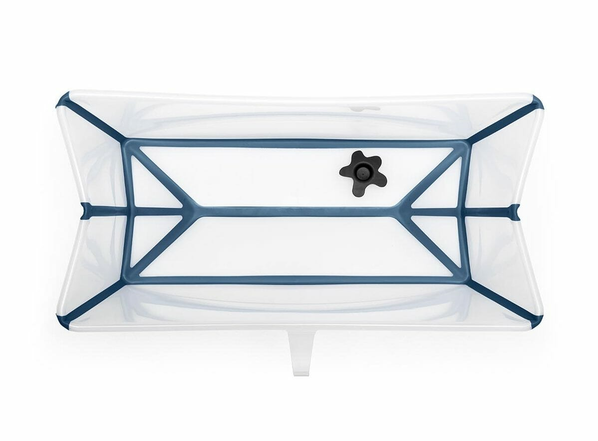 Stokke Flexi Bath Transparent Blue Internal View