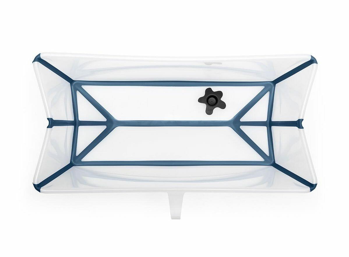 Stokke Flexi Bath Transparent Blue Internal View