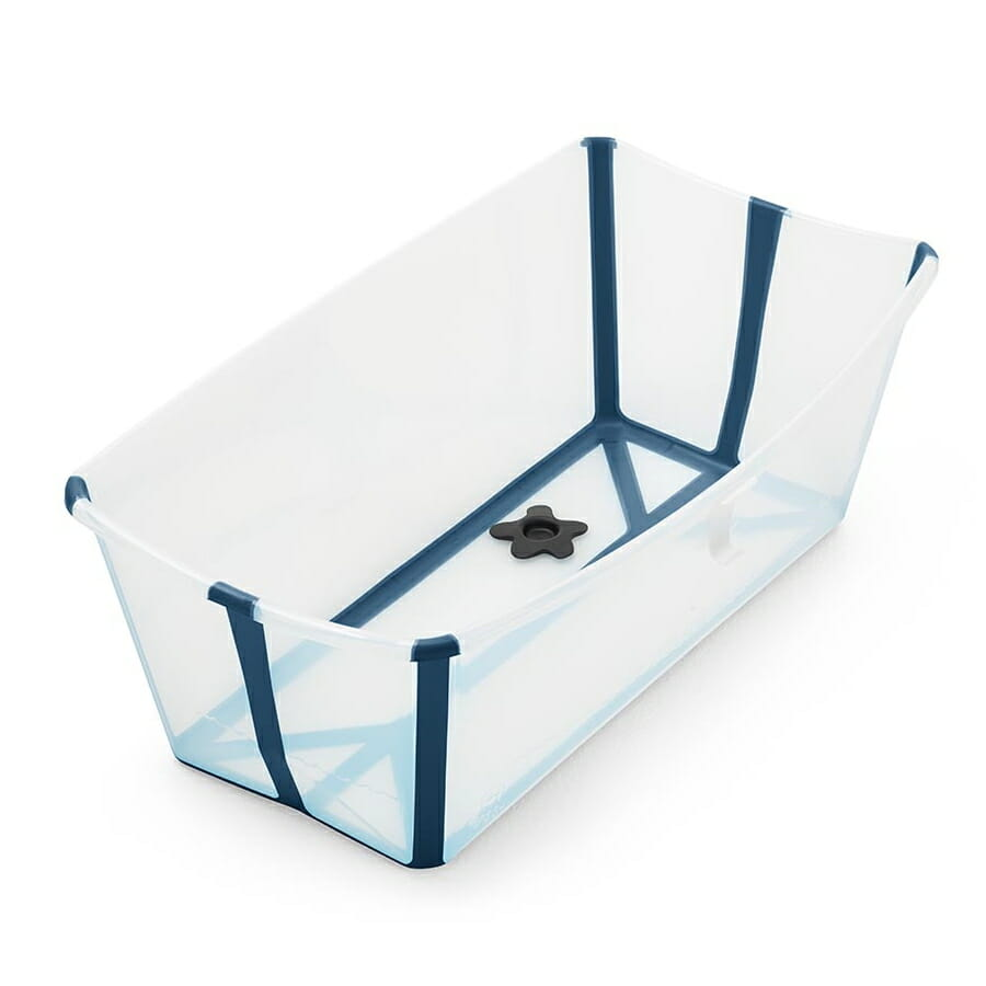 Stokke Flexi Bath Transparent Blue Side View