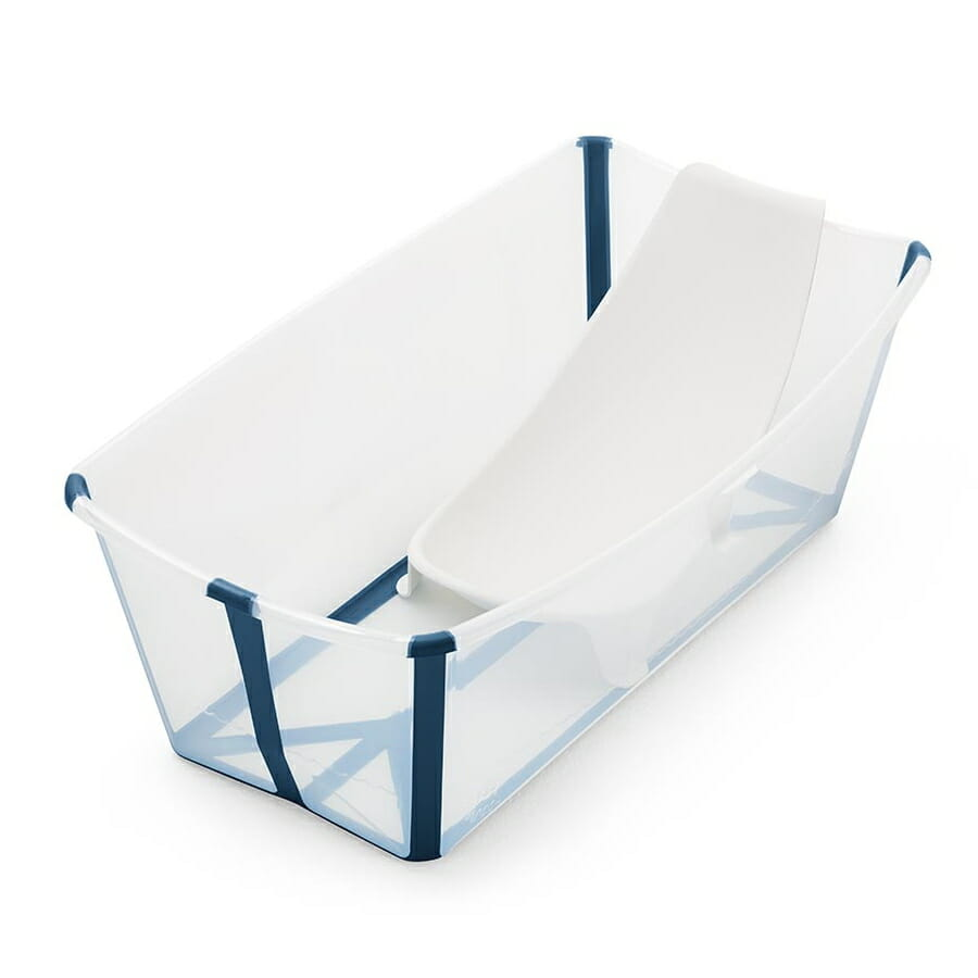 Stokke Flexi Bath Transparent Blue With Newborn Insert