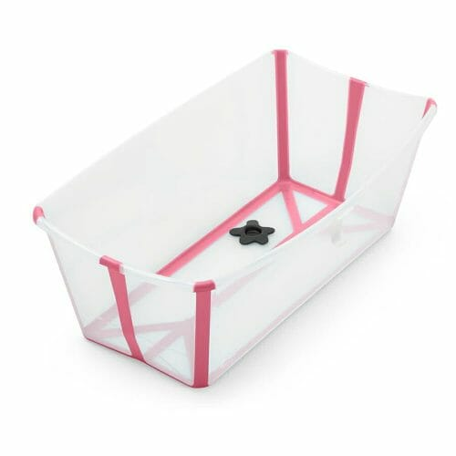 Stokke Flexi Bath Transparent Pink Side View