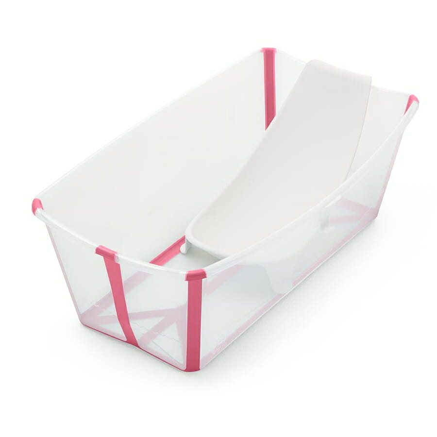 Stokke Flexi Bath Transparent Pink With Newborn Insert