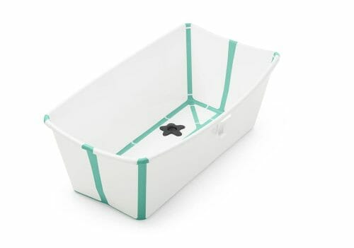 Stokke Flexi Bath White Aqua Side View