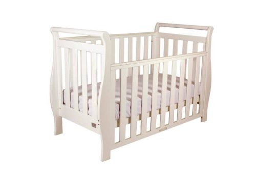 Babyhood Georgia Sleigh Change Table White