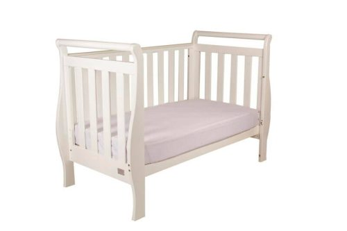 Babyhood Georgia Sleigh Cot White Day Bed