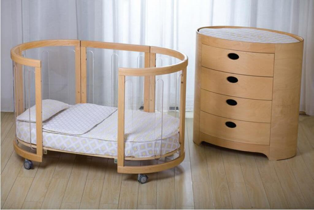 Kaylula Sova Clear Cot configured as Toddler Bed