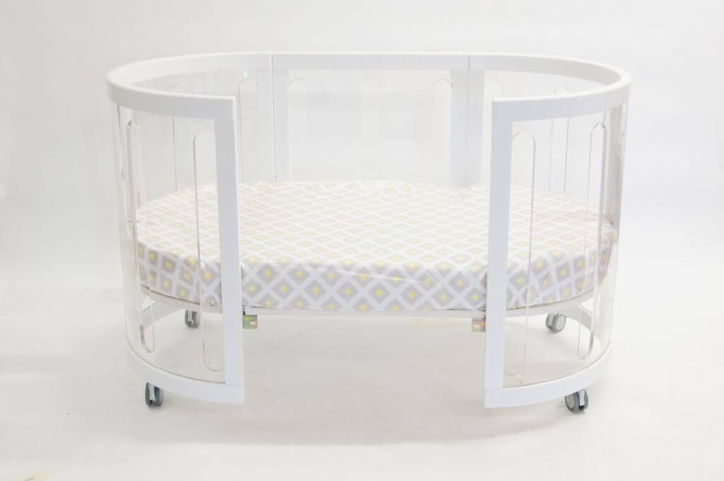 Kaylula Sova Cot Configured as Toddler Bed White