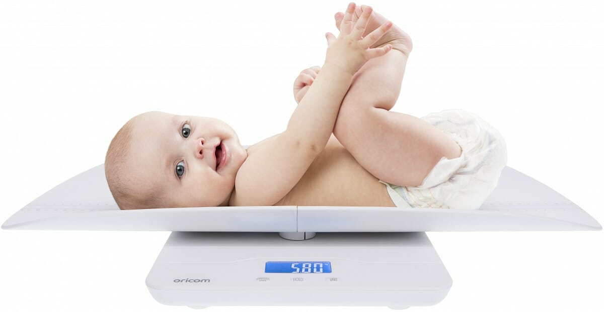 Oricom DS1100 Scale with baby