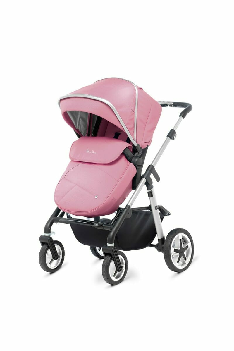 Silver Cross Pioneer Chrome Vintage Pink FW_PUSHCHAIR_3-4