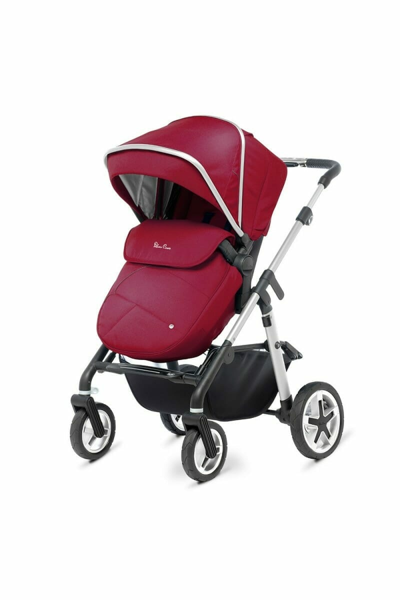 Silver Cross Pioneer Chrome Vintage Red FW_PUSHCHAIR_3-4