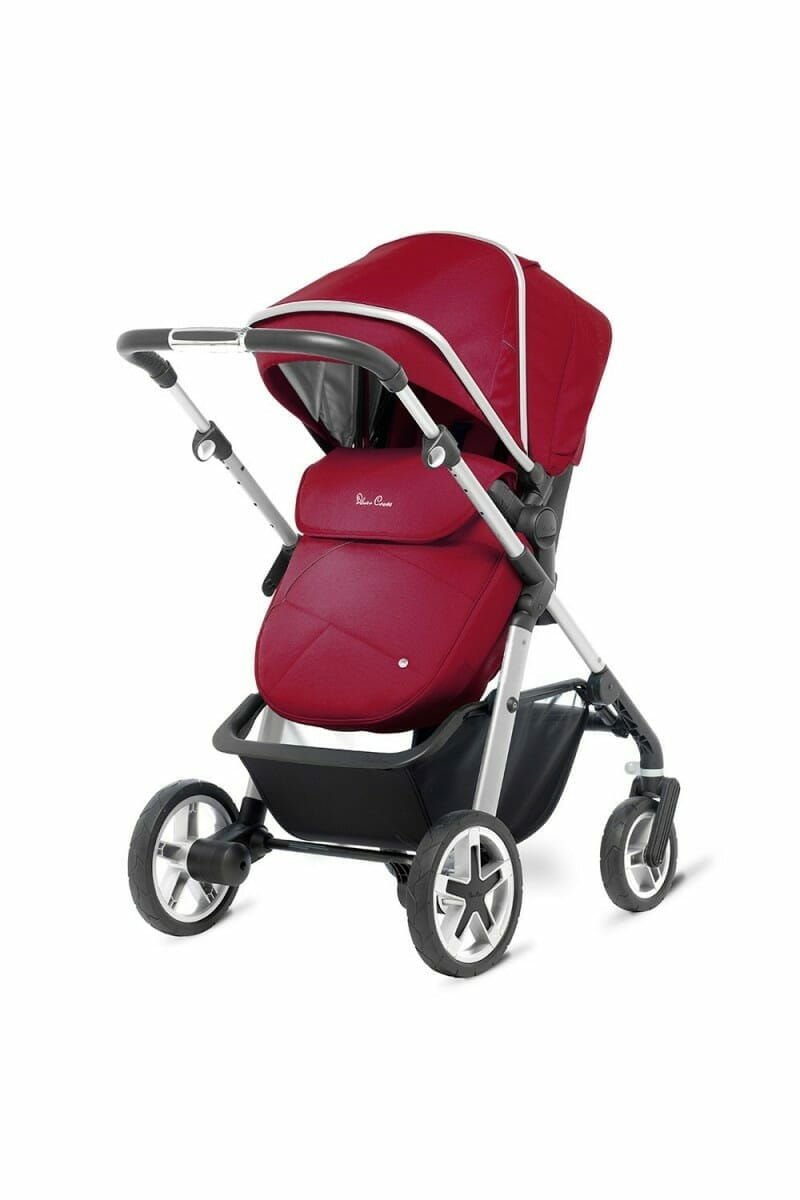 Silver Cross Pioneer Chrome Vintage Red REAR_FACING_PUSHCHAIR_3-4