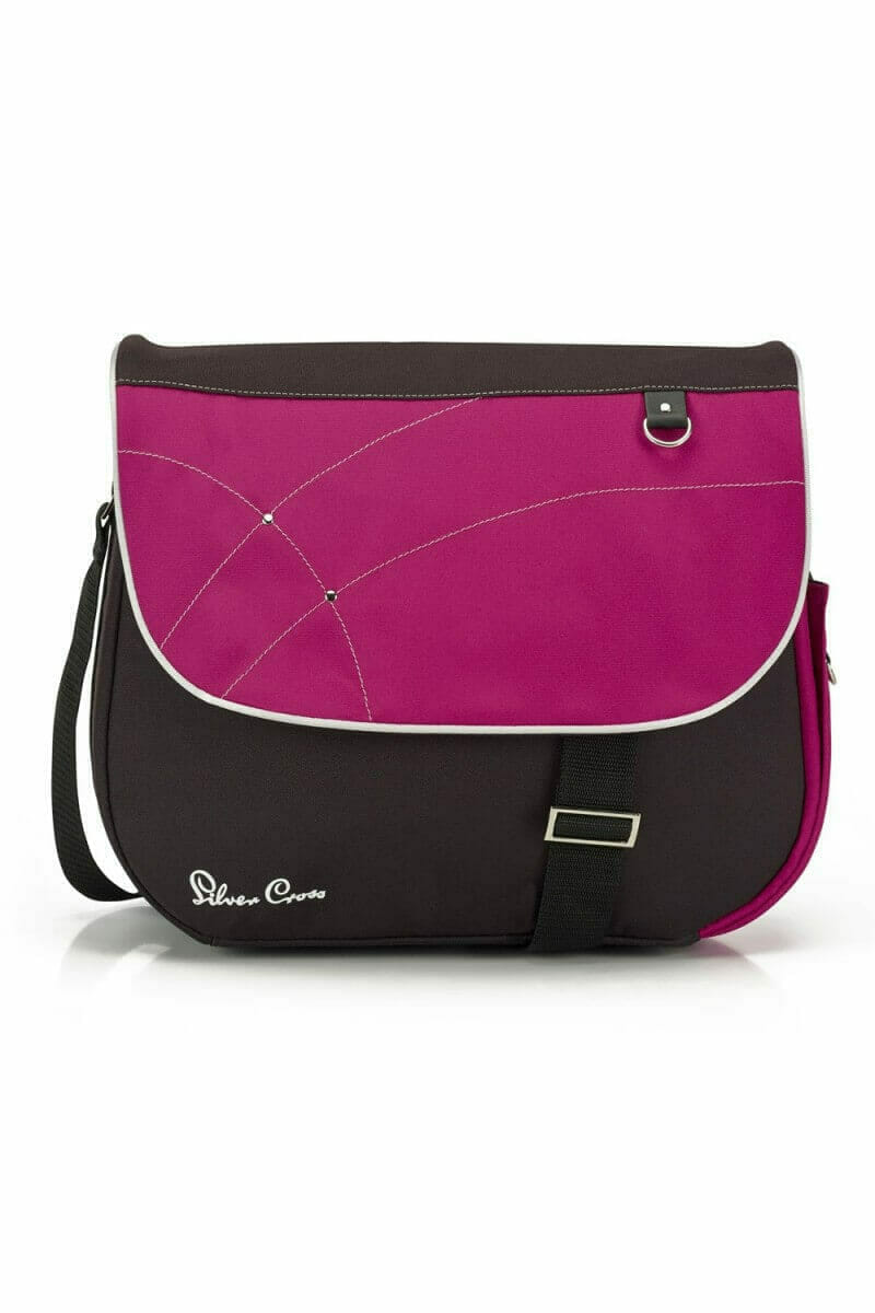 Silver Cross Wayfarer Surf Pioneer Changing Bag Raspberry