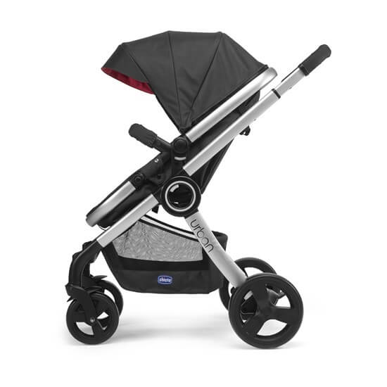 Chicco Urban Red Wave Side View Front Facing