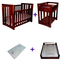 Babyhood Zimbali Cot 4 Pce Package Deal Espresso No Text