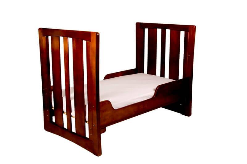 Babyhood Zimbali Cot as Toddler Bed Espresso