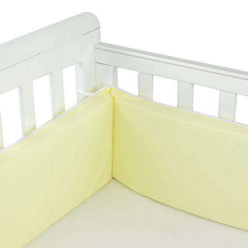 Babyhood Cot Bumper 3 sided Pale Lemon