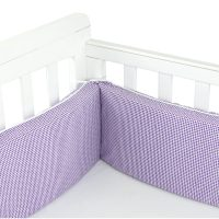 Purple Gingham Cot Bumper