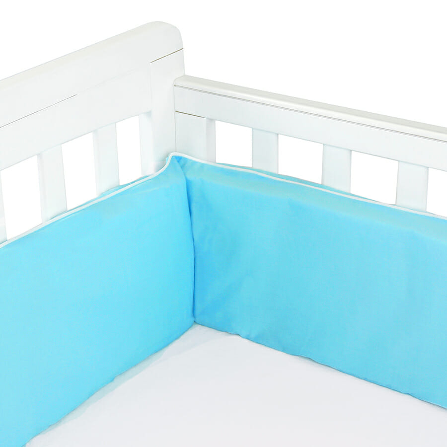 Babyhood Cot Bumper 3 sided Turquoise