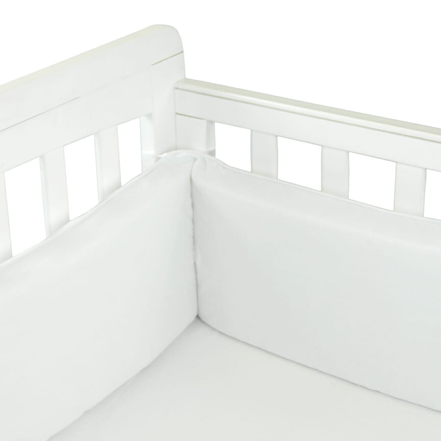 Babyhood Cot Bumper 3 sided White