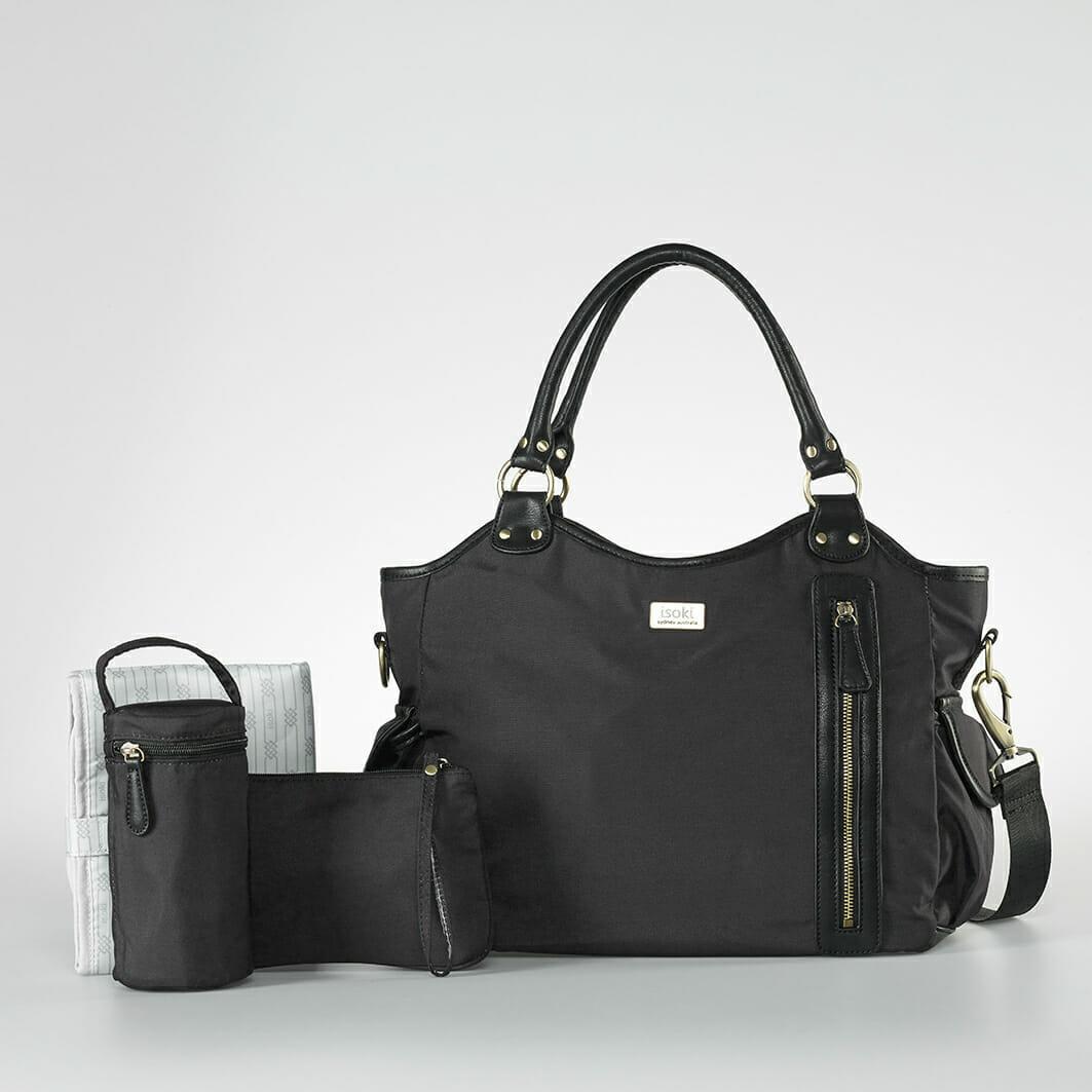 Isoki Hobo Angel Nappy Bag - Lennox with accessories