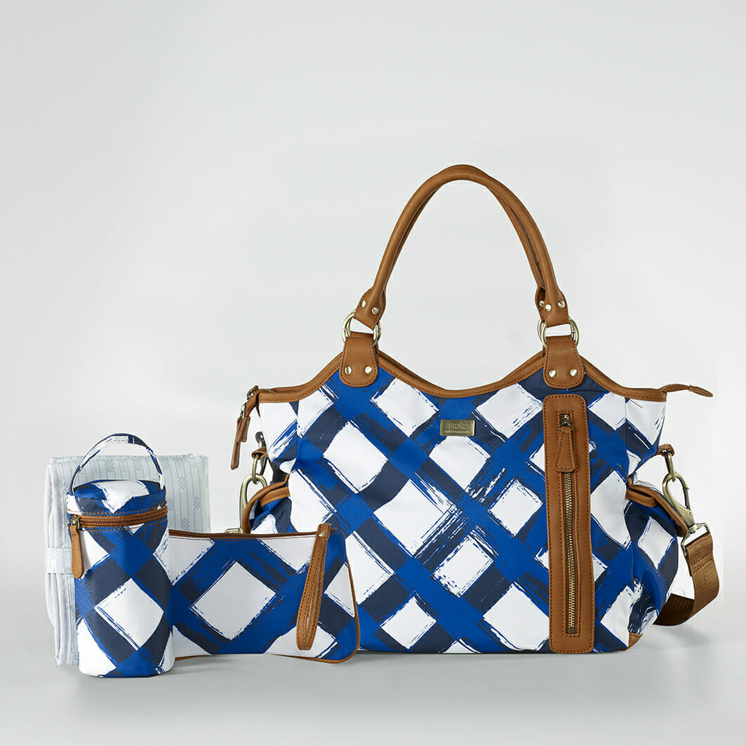 Isoki Hobo Angel Nappy Bag - Noosa with accessories