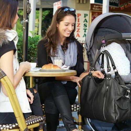 Isoki Leather Hobo Angel Nappy Bag LifeStyle