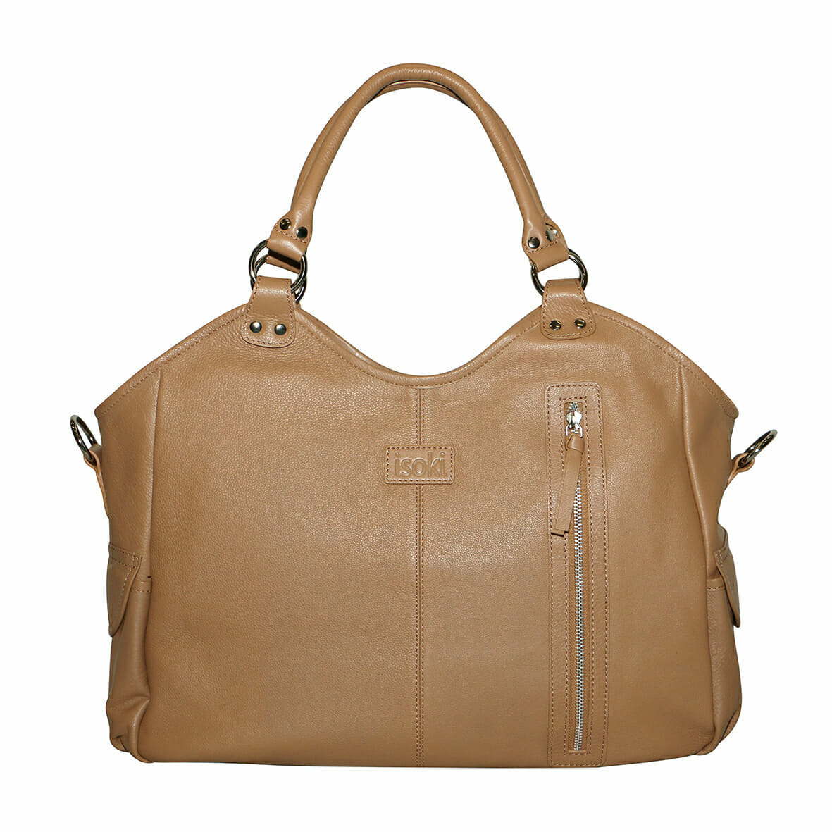Isoki Leather Hobo Angel Nappy Bag - Queenscliff