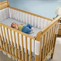Breathable Mesh Cot Bumper