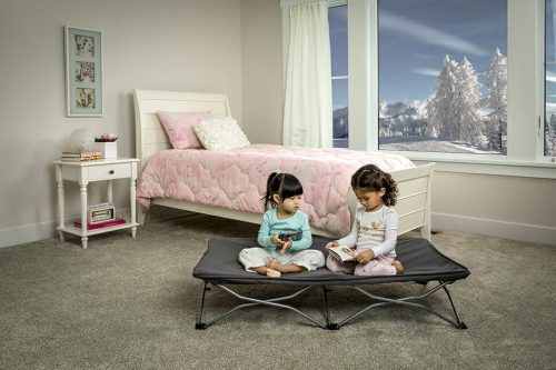 Regalo My Cot Portable Toddler Bed Grey Lifestyle 2