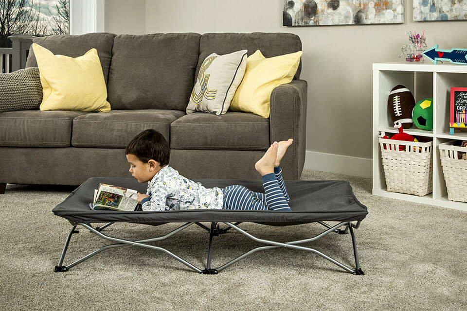 Regalo My Cot Portable Toddler Bed Grey Lifestyle