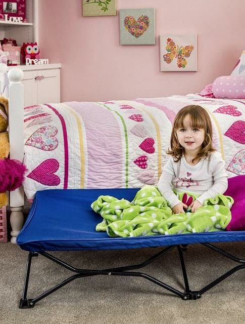 Regalo Portable Toddler Bed Blue Lifestyle 2