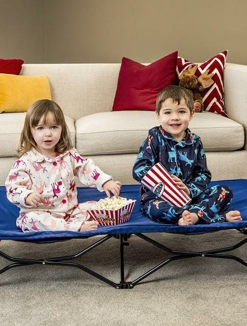 Regalo Portable Toddler Bed Blue Lifestyle