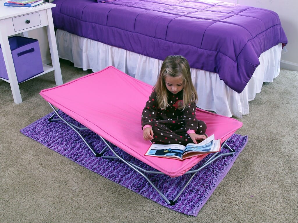 Regalo Portable Toddler Bed Pink Lifestyle 3