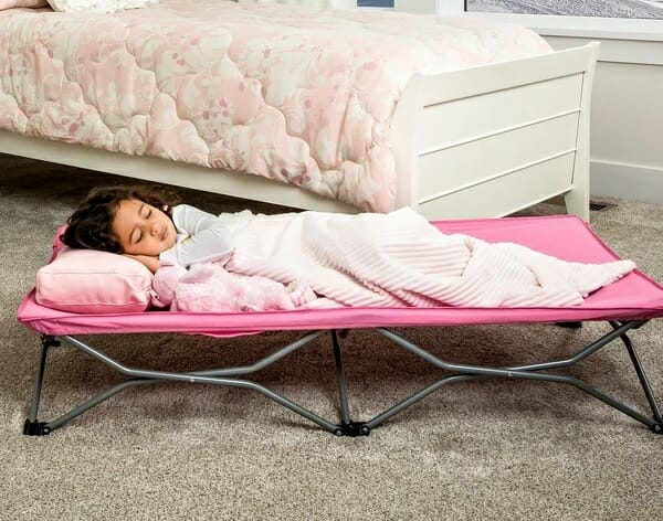 Regalo Portable Toddler Bed Pink Lifestyle