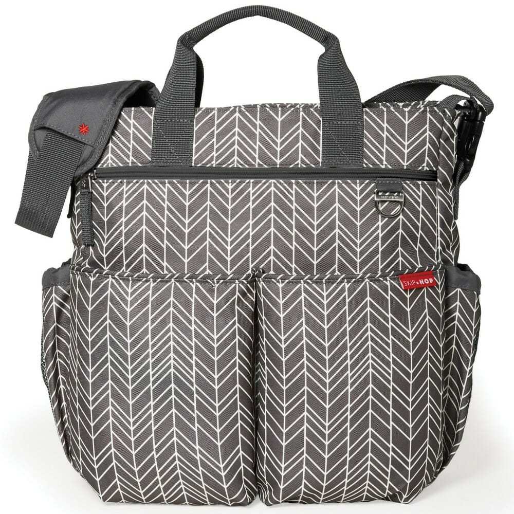 Skip Hop Duo Signature Diaper Bag Grey Feather
