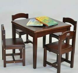 babyhoood Playing Table and 4 Chairs - Chocolate