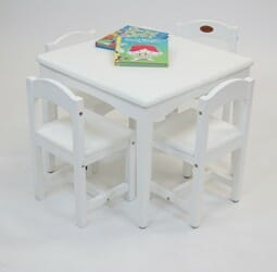 babyhoood Playing Table and 4 Chairs - White