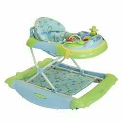Babyhood Safety Diddlee Doo 2 in 1 Walker Rocker Blue Green