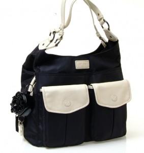 Gr8x Alice Shoulder Bag Black And Cream Bubs N Grubs